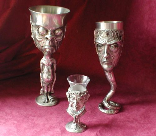 Goblets, including Gollum